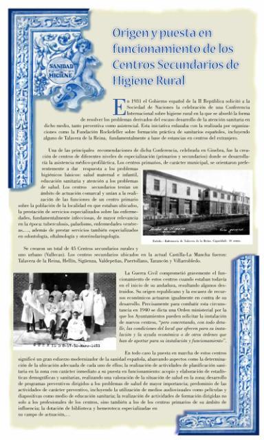 Exposición conmemorativa del 75 aniversario del Centro Secundario de Higiene Rural de Talavera de la Reina (1933-2008). Panel informativo 01.