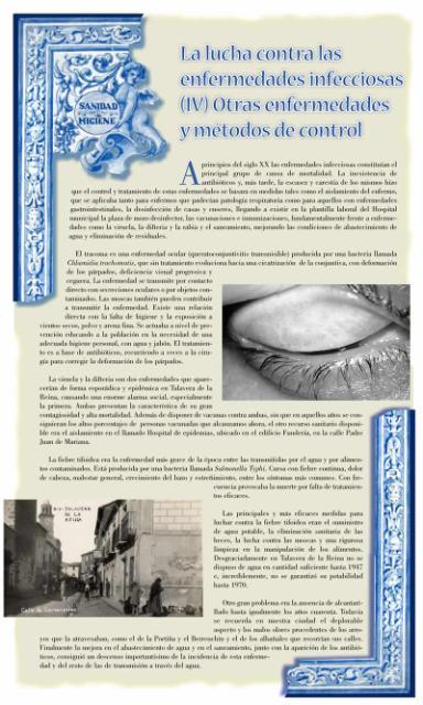 Exposición conmemorativa del 75 aniversario del Centro Secundario de Higiene Rural de Talavera de la Reina (1933-2008). Panel informativo 07.
