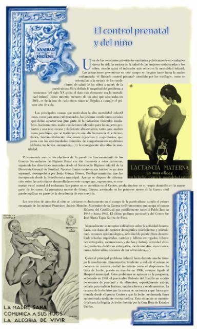 Exposición conmemorativa del 75 aniversario del Centro Secundario de Higiene Rural de Talavera de la Reina (1933-2008). Panel informativo 08.