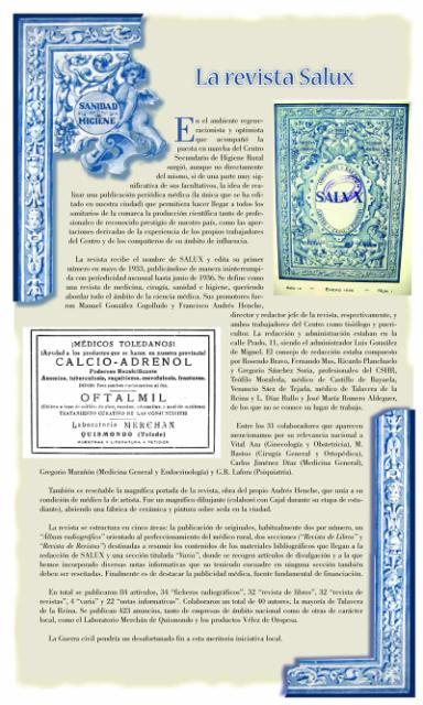 Exposición conmemorativa del 75 aniversario del Centro Secundario de Higiene Rural de Talavera de la Reina (1933-2008). Panel informativo 11.