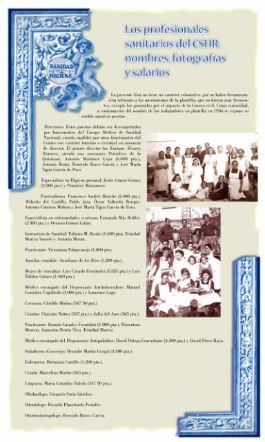 Exposición conmemorativa del 75 aniversario del Centro Secundario de Higiene Rural de Talavera de la Reina (1933-2008). Panel informativo 12.